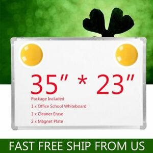 Lot 35 x23 Double Side Magnetic Writing White Board eraser Office Home School