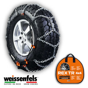Snow Chains Weissenfels Rtr Rex Tr Pick up Gr 8 17mm 245 45 R18 245 45 18