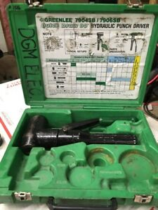 Greenlee 7904sb Quick Draw 90 Hydraulic Punch Driver W Case Parts Repair 1516