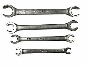 4 Pc Sae Flare Nut Wrench Set Made In Usa Fast N Free Shipping