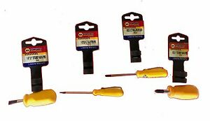 Napa 4 Pc Small And Stubby Screw Driver Set