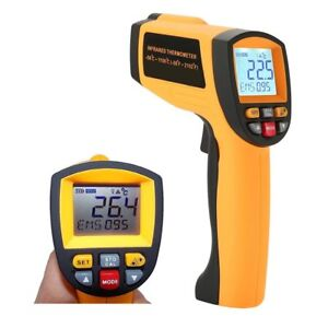 Laser Infrared Thermometer Lcd Non Contact High Temperature Gun Pyrometer 58 f