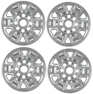 New Chrome 17 Steel Wheelcover Skin Fits Nissan Nv 1500 2500 3500 Cargo Van Set