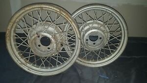 Kelsey Hayes Wire Wheels Chevy Ford Ratrod 18x4 5 On 4 1 4 Bent 40 Spoke