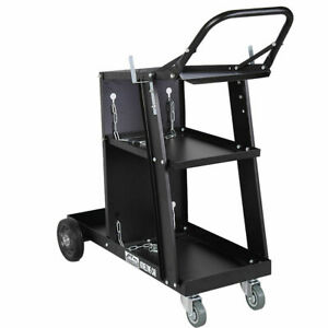 Welder Welding Cart Plasma Cutter Mig Tig Arc Universal Storage For Tanks
