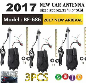 3x 12v Car Am fm Radio Mast Electric Power Antenna Aerial Replacement Universal