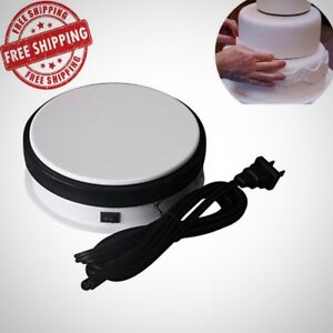 Turntable Display Stand 360 Degree Electric Rotating Cake Decorating Jewelry New