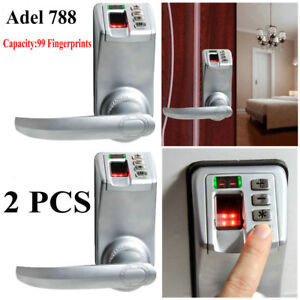 2x Fingerprint Door Lock Biometric Keyless Keypad Password Handle Adel Diy 788