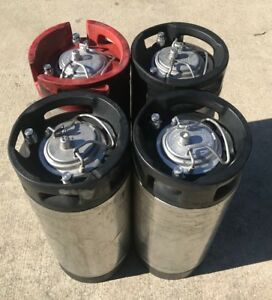 5 Gallon Pin Lock Keg Beer Kombucha Coffee Home Brew Corny Keg pack Of 4