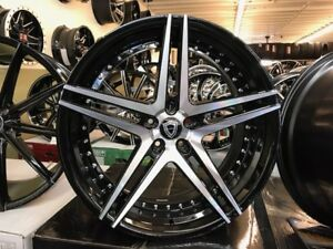 22 Staggered 5260 Rims Tires Asanti Lexani Forgiato Dub Bmw Mbz Chevy Tesla