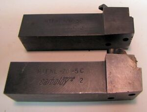 Carboloy Turning Facing Tool Holders Mtfnl 20 5c Used 2
