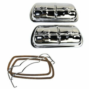 Empi 8905 Chrome Stock Clip On Valve Cover Kit Vw Engine 1600cc 2275cc Pair
