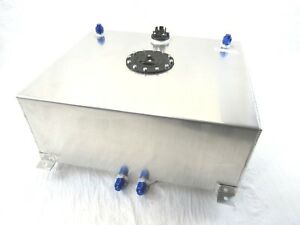 Aluminum 20 Gallon Fuel Cell With Sender Polished Bpf 1007