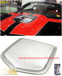 For 10 15 Camaro Polycarbonate Front Clear Window Hood Insert Heat Extractor