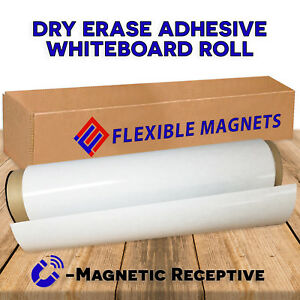 2 X 50 Dry Erase Whiteboard Sheet With Adhesive On Back Magnetic Receptive