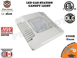 130w 150w Led Gas Station Canopy Light Dlc 5700k Meanwell Driver Philips