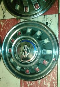 1967 Chevrolet Ss Hub Caps 14 Set Of 4 Chevy Hubcaps Impala Super Sport 67