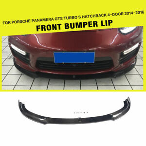 Carbon Fiber Front Spoiler Lip Fit For Porsche Panamera Gts Turbo S 4 door 14 16