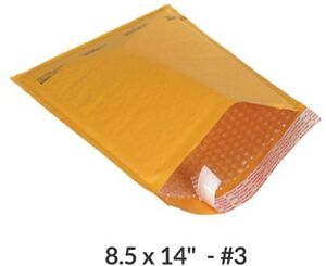 10 Kraft Bubble Mailers 8 5x14 3 Self sealing Padded Envelopes Bags
