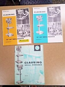 3 Clausing 15 20 Drill Press Price List Vintage Machining 1964 1967 1970