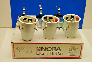 Case Of 3pcs Nora Nlr 404qat 4 Air tight Low Voltage Remodel Recessed Light Can