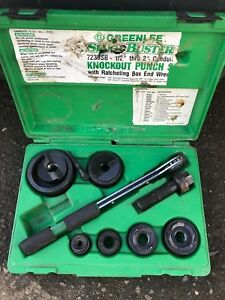 Greenlee 7238 Sb Knock Out Punch Set 1 2 Into 2 Conduit