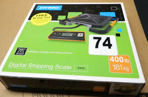Dymo S400 Digital Usb Shipping Scale 400 Lb 181 Kg Maximum Weight Capacity