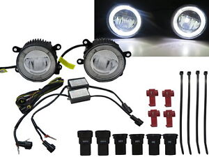 Megane Ii Coupe Cabrio 2003 2009 Drl Led Glass Fog Light Lamp For Renault