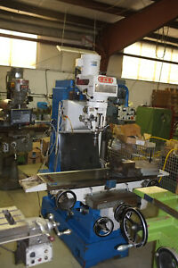 Bed Type Milling Machine 4hp Motor With 3 axis Newall Digital Readout