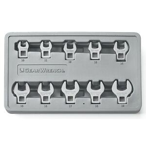 Gearwrench 10 Piece 3 8 Drive Metric Crowfoot Wrench Set Kd Tools 81909