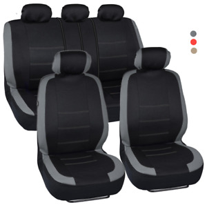 Car Suv Van Seat Covers 9 Pieces Front Rear Full Interior Set Split Bench