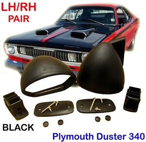 Plymouth Duster 340 Bullet 1970 1976 Black Mirror Pair Rh Lh Retro Classic