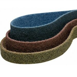 1 5 X 30 Surface Conditioning Pipe Sanding Belts 1 Each Tan Red Blue 3 Pack