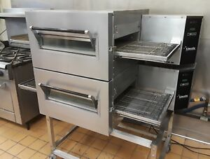 Lincoln Impinger Double 18 Conveyor Pizza Oven Nat Gas 1116 000 a Refurbished