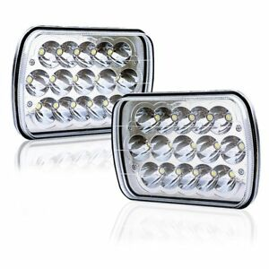 7x6 Led Headlights Hid Light Bulbs Crystal Clear Sealed Beam Headlamp 2pcs 6x7