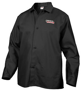 Black Welding Jacket Large Lincoln Kh808l