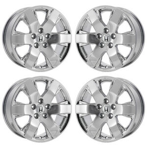18 Honda Pilot Ridgeline Se Pvd Chrome Wheels Rims Factory Oem Set 4 64038