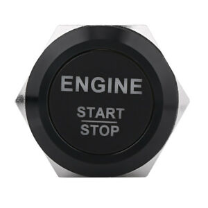 12v Waterproof Car Engine Start Push Button Switch Ignition Starter W White Led