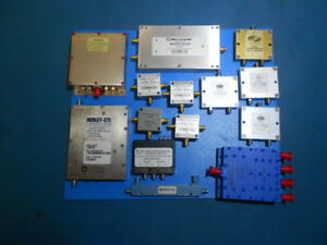 Uln Saw Sr B232 320 Mhz Oscillator Splitters Couplers And Relay Lot Of 14