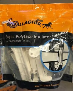 4 New Bags Gallagher Super Polytape Insulator For Permanent Fences White