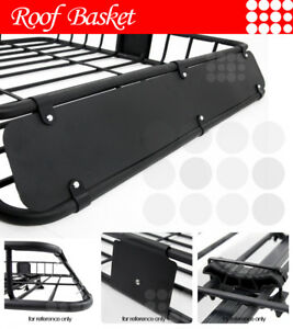 Fit Jeep Roof Top Mount Basket Travel Luggage Carrier Cargo Rack Wind Fairing
