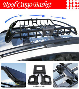 Fit Jeep Roof Top Mount Basket Travel Luggage Carrier Cargo Rack Lower Profile