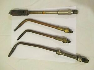 Lot Of 4 Welding Torch Tips Used Condition See Photos
