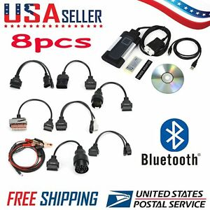 Tcs Cdp Pro Bluetooth 2015 3 For Autocom Obd2 Diagnostic Tool 8pcs Car Cables Bt