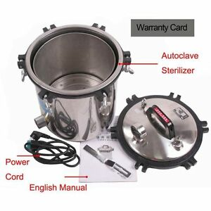 Portable 18l High Pressure Steam Autoclave Sterilizer Dental Stainless Steel Udw
