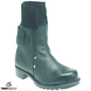 Toesavers F034 Black Mid leg Foundry Welders Welding Steel Toe Cap Safety Boots