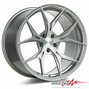 20 Rohana Rfx5 Brushed Titanium Concave Wheels Fits Lexus 5x4 5 Or 5x120