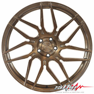 20 Rohana Rfx7 Brushed Bronze Concave Wheels Fits Ford 5x4 5 Or 5x108