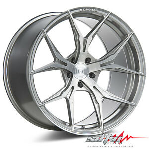 20 Rohana Rfx5 Brushed Titanium Concave Wheels Fits Hyundai 5x114 3 Or 5x4 5