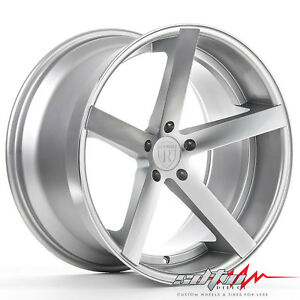 20 Rohana Rc22 Machine Silver Concave Wheels Fits Ford 5x4 5 Or 5x108